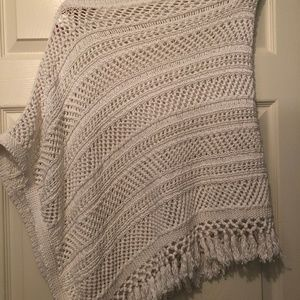 Lilly Pulitzer Asymmetrical Poncho with Fringe